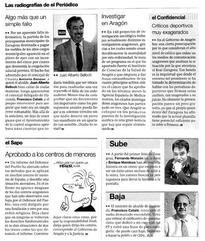 Fernando Monzón sube en El Periódico de Aragón