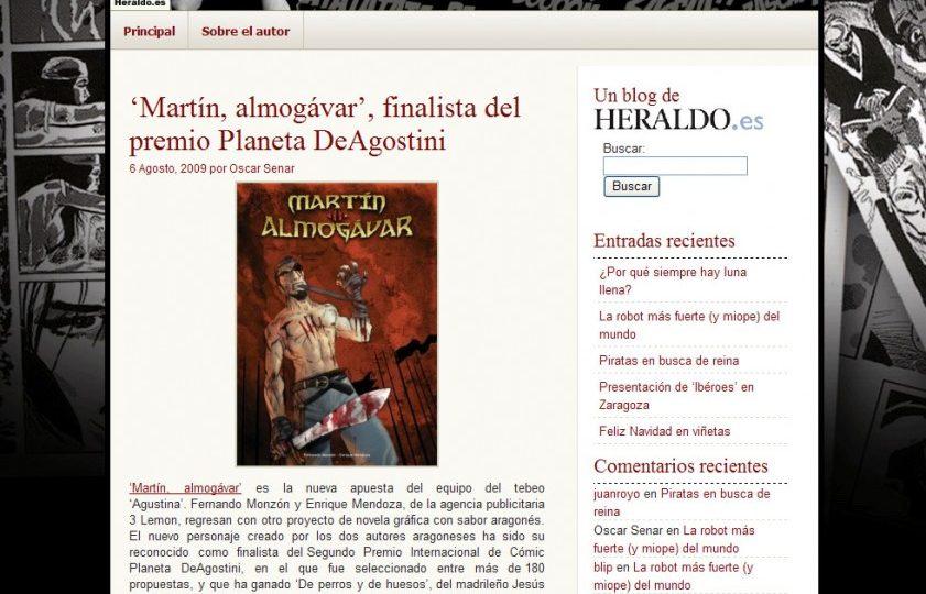 Martín, finalista del premio Planeta