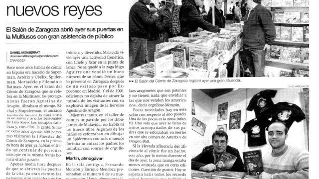 Fernando Monzón y Enrique Mendoza en el salón del cómic de Zaragoza