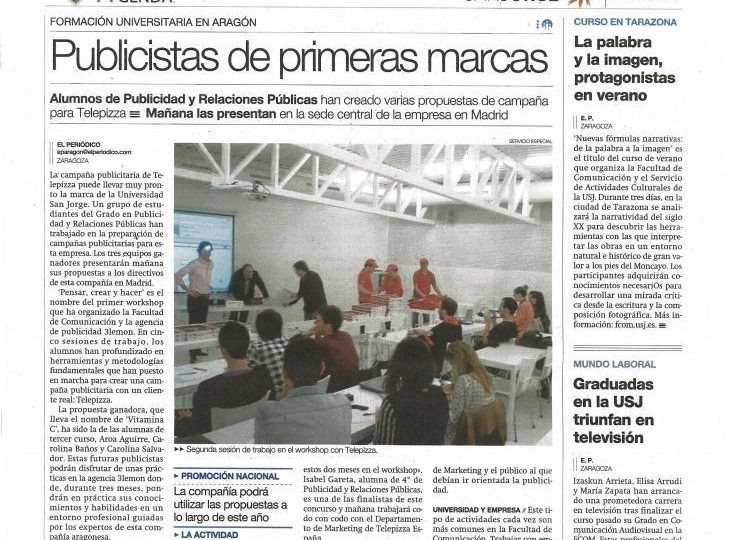 "Workshop: ""Pensar, crear y hacer"""