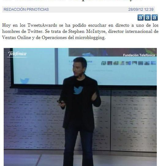 Fernando Monzón Trending Topic tras los TWEETSAWARDS 2012