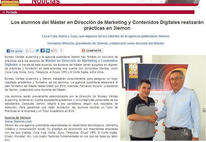 3lemon con los alumnos del Máster de Dirección y Marketing y Contenidos Digitales